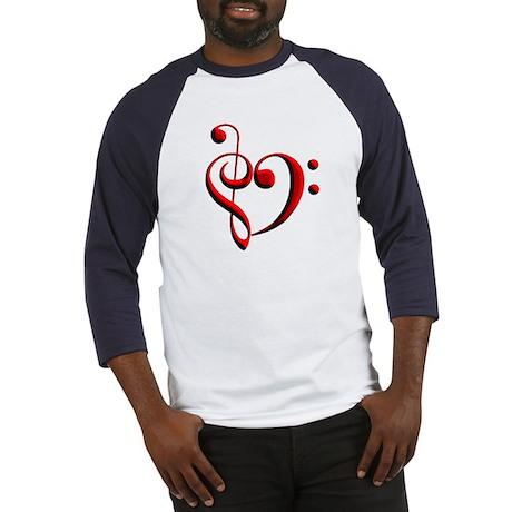 Clef Heart Baseball Jersey