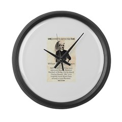 William Barclay Masterson Large Wall Clock