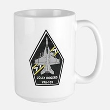 VFA 103 Jolly Rogers Large Mug