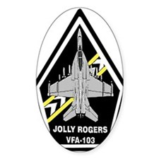 VFA 103 Jolly Rogers Oval Decal