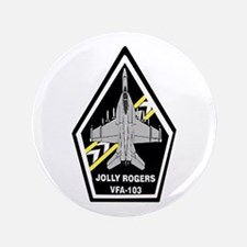"""VFA 103 Jolly Rogers 3.5"""" Button"""