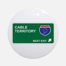 Cable Territory Ornament (Round)