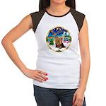 XmasMusic3/Yorkie #7 Women's Cap Sleeve T-Shirt