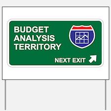 Budget, Analysis Territory Yard Sign