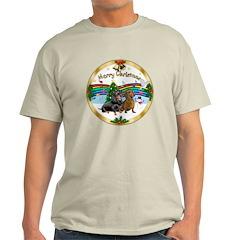 XmasMusic1/ 2 Dachshunds Light T-Shirt