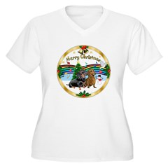 XmasMusic1/ 2 Dachshunds T-Shirt