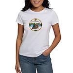 XmasMusic1/ 2 Dachshunds Women's T-Shirt