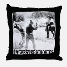 Western Movies Throw Pillow
