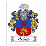 Ambrosi Family Crest Small Poster