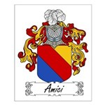 Amici Family Crest Small Poster