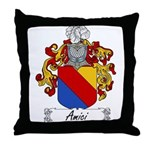 Amici Family Crest Throw Pillow