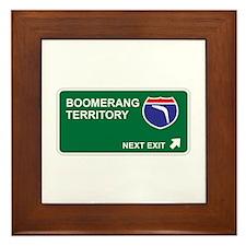Boomerang Territory Framed Tile