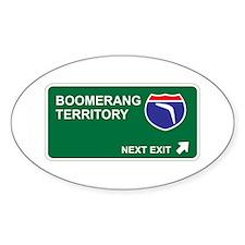 Boomerang Territory Oval Sticker (10 pk)