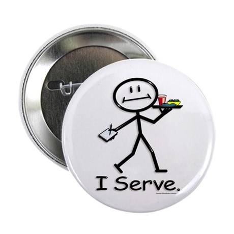 "BusyBodies Server 2.25"" Button (10 pack)"