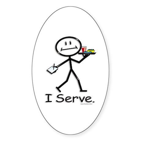 BusyBodies Server Oval Sticker