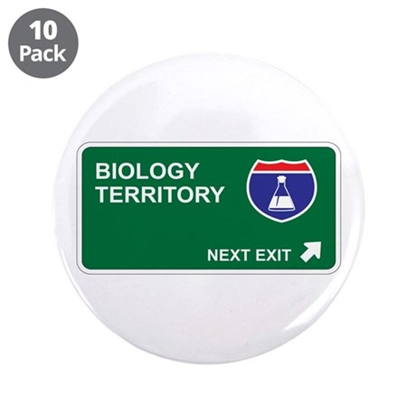 """Biology Territory 3.5"""" Button (10 pack)"""