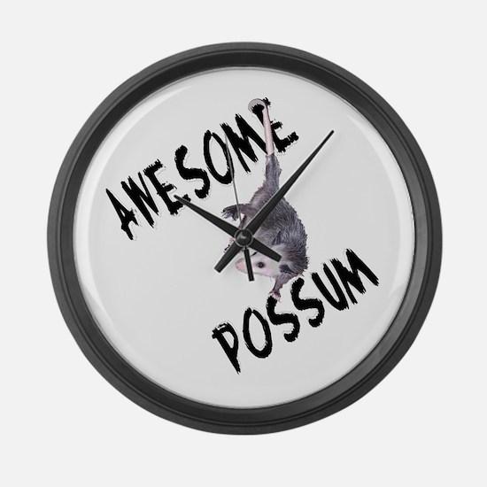 Awesome Possum Large Wall Clock