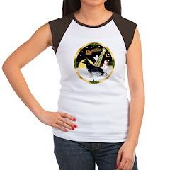 NightFlight-German Shep3 Women's Cap Sleeve T-Shir