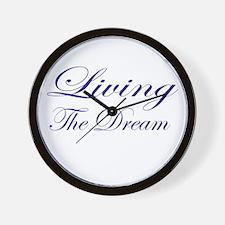 Living the Dream Purple Wall Clock