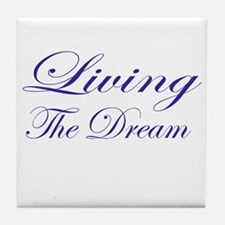 Living the Dream Purple Tile Coaster