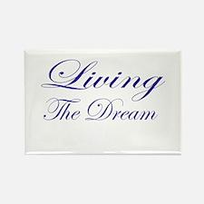 Living the Dream Purple Rectangle Magnet