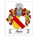 Amico Family Crest Small Poster