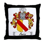 Amico Family Crest Throw Pillow