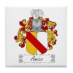 Amico Family Crest Tile Coaster