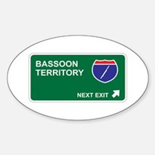 Bassoon Territory Oval Decal