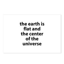 flat earth Postcards (Package of 8)