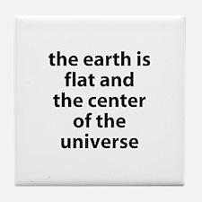 flat earth Tile Coaster