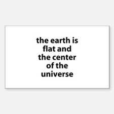 flat earth Rectangle Decal