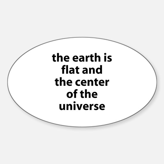 flat earth Oval Decal