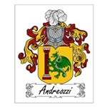 Andreozzi Family Crest Small Poster