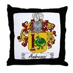 Andreozzi Family Crest Throw Pillow