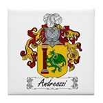 Andreozzi Family Crest Tile Coaster