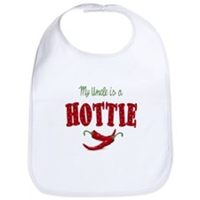My Uncle is a Hottie Chili Pepper Baby Infant Bib