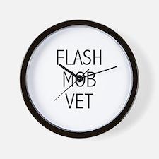 Flash Mob Vet Wall Clock