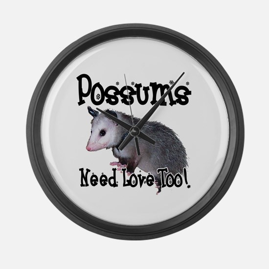 Possums Need Love Large Wall Clock
