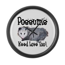 Possums Need Love Large Wall Clock