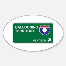 Ballooning Territory Oval Decal