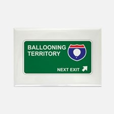 Ballooning Territory Rectangle Magnet