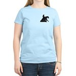 Reining Horse Sliding Stop Flowers Women's Light T