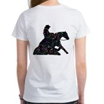 Reining Horse Sliding Stop Flowers Women's T-Shirt