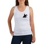 Reining Horse Sliding Stop Flowers Women's Tank To