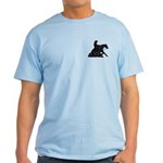 Reining Horse Sliding Stop Flowers Light T-Shirt