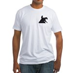 Reining Horse Sliding Stop Flowers Fitted T-Shirt