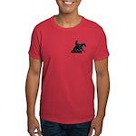 Reining Horse Sliding Stop Flowers Dark T-Shirt