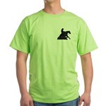 Reining Horse Sliding Stop Flowers Green T-Shirt