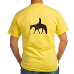 Reining Horse Sliding Stop Flowers Yellow T-Shirt